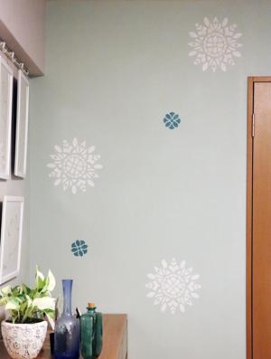 壁 壁紙 ペイント ステンシル