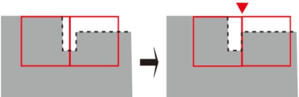DIY キッチン フロアタイル 貼り換え 隅に合わせてフロアタイルを貼る