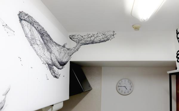 壁紙ペイント キッチン 壁 天井